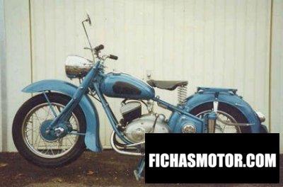 Imagen moto Adler m 200 año 1954