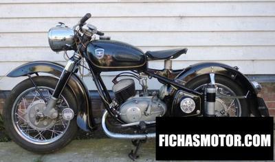 Ficha técnica Adler mb 250 rs 1956