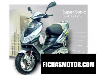 Ficha técnica Adly super sonic 125 2009