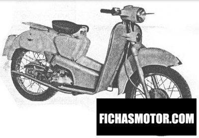 Ficha técnica Aermacchi hd 125 zeffiro 1955