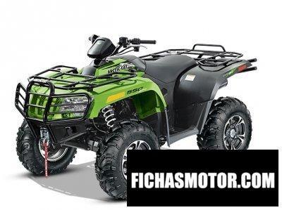 Ficha técnica Arctic cat 550 limited 2014