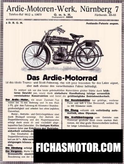 Ficha técnica Ardie bz 350 d 1956