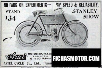 Ficha técnica Ariel 2 hp 1902