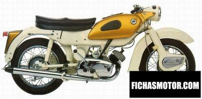 Ficha técnica Ariel arrow super sport 250 1961