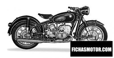 Obraz motocykla Bmw r50 rok 1958