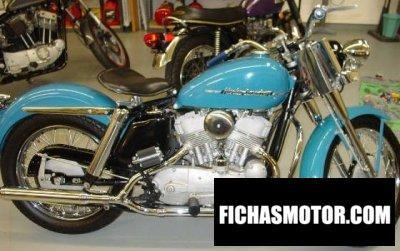 Imagen moto Harley davidson kk año 1952