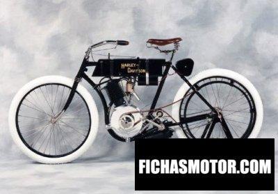 Imagen moto Harley davidson x8 año 1905