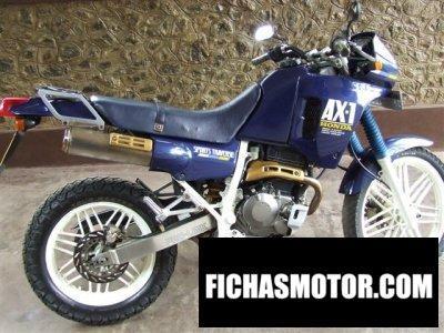 Ficha técnica Honda ax-1 sports traverse 1983