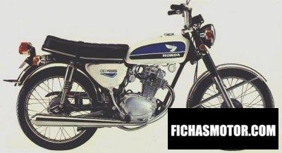 Imagen moto Honda cb 100 año 1972