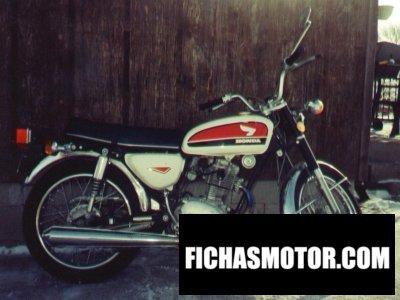 Imagen moto Honda cb 100 año 1973
