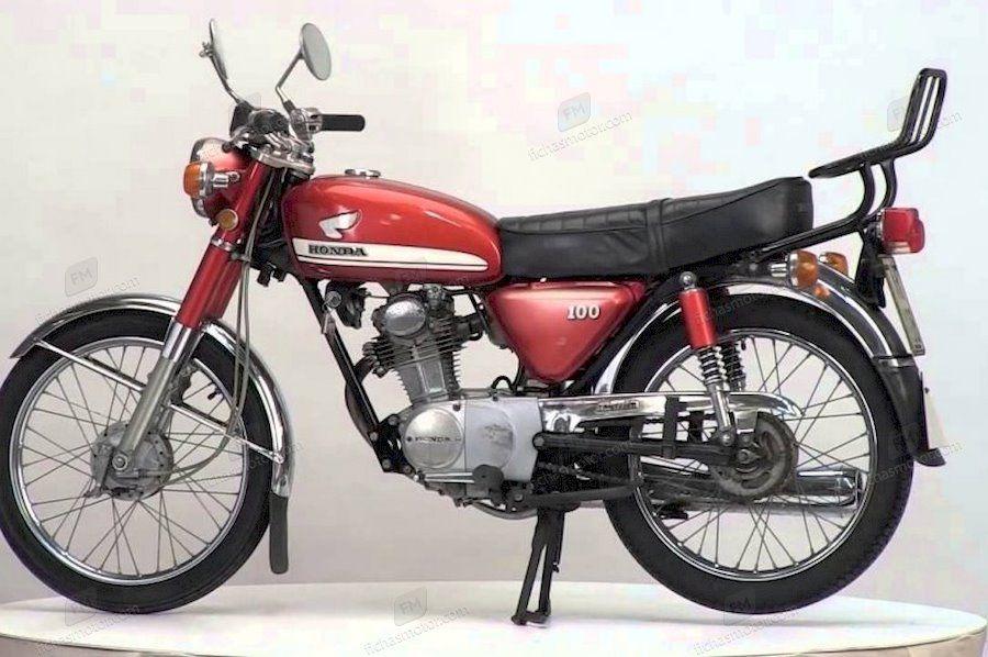 Imagen moto Honda cb 100 año 1974