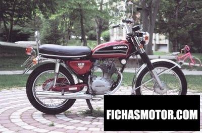 Imagen moto Honda cb 125 ss año 1973