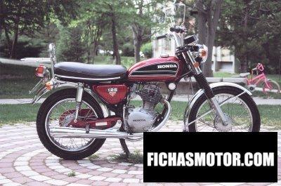 Ficha técnica Honda cb 125 ss 1974