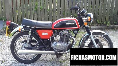 Ficha técnica Honda cb 200 1978
