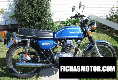 Imagen moto Honda cb 200 disc año 1977