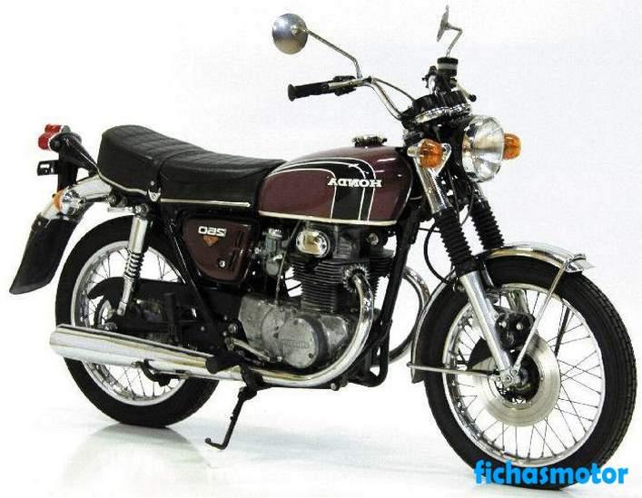 Imagen moto Honda cb 250 año 1972