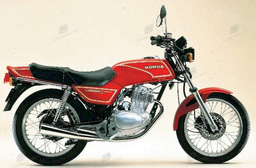 Ficha técnica Honda cb 250 rs 1984