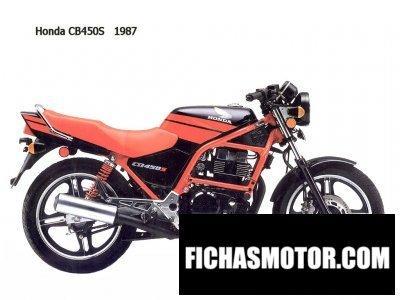 Ficha técnica Honda cb 450 s 1987
