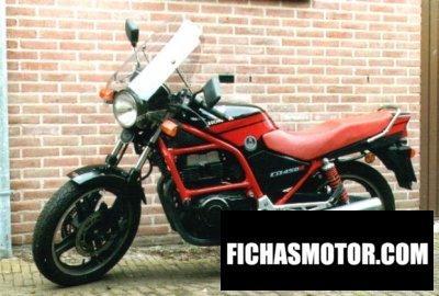 Ficha técnica Honda cb 450 s 1990