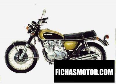 Ficha técnica Honda cb 500 f 1971