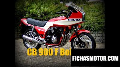 Ficha técnica Honda cb 900 f 2 bol dor 1983