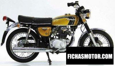 Imagen moto Honda cb250 super sport año 1967