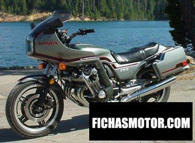 Ficha técnica Honda cbx 1981