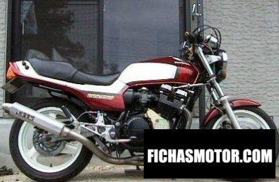 Ficha técnica Honda cbx 550 f 1984