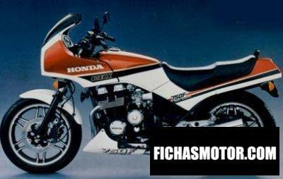 Imagen moto Honda cbx 750 f año 1987