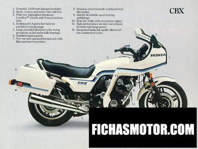 Imagen moto Honda cbx pro link año 1983