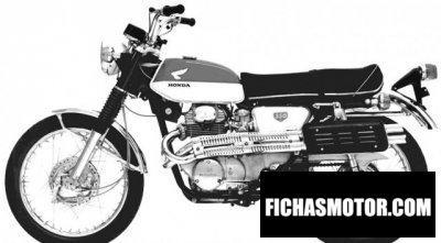 Ficha técnica Honda cl 350 1968