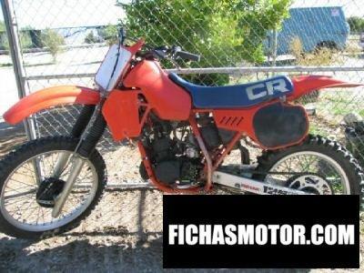 Ficha técnica Honda cr 125 r 1983
