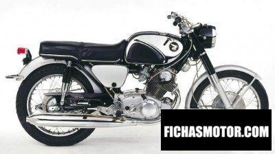 Imagen moto Honda dream 305 año 1968