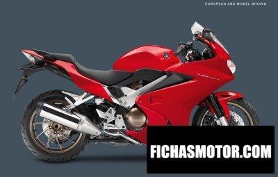 Imagen moto Honda interceptor año 2014