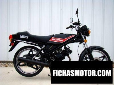 Ficha técnica Honda mb5 1982