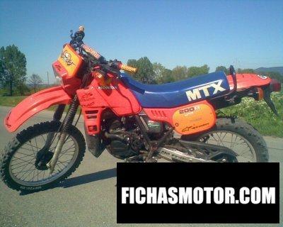 Ficha técnica Honda mtx 200 r 1986