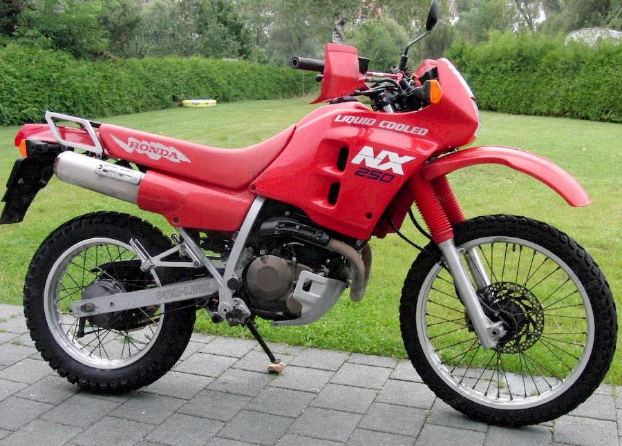 Ficha técnica Honda nx 250 (reduced effect) 1989
