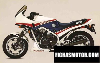 Ficha técnica Honda vfr 1000 f 2 1986