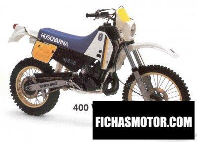 Ficha técnica Husqvarna 400 wr 1987
