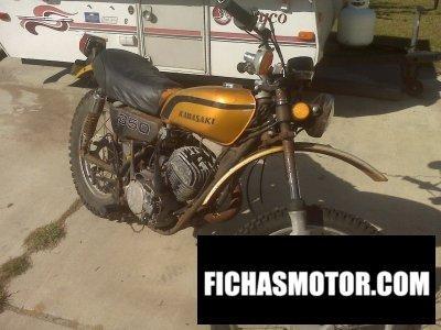 Imagen moto Kawasaki 350 f 9 año 1973