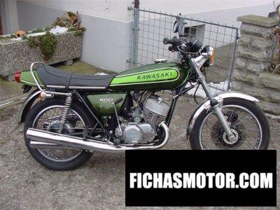 Ficha técnica Kawasaki 500 h 1 mach iii 1973