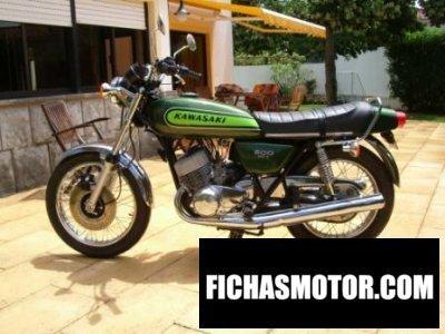 Imagen moto Kawasaki 500 h 1 mach iii año 1974