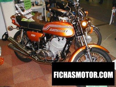 Imagen moto Kawasaki 750 h 2 mach iv año 1972