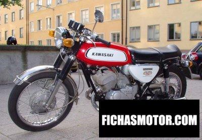 Imagen moto Kawasaki a1 samurai año 1970