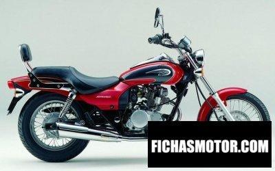 Ficha técnica Kawasaki el 125 eliminator 2003