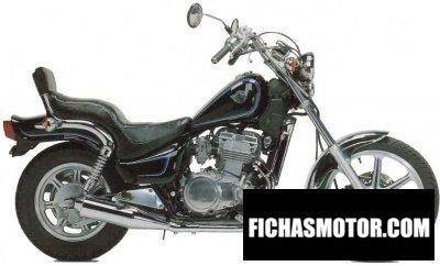 Imagen moto Kawasaki en 500 año 1990