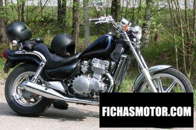 Imagen moto Kawasaki en 500 año 1991
