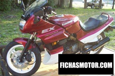 Imagen moto Kawasaki ex 500 año 1991