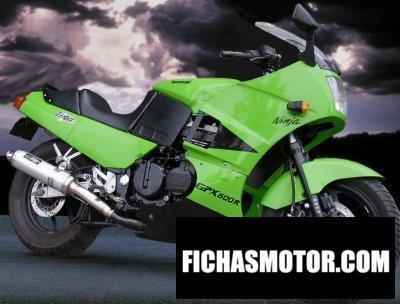 Imagen moto Kawasaki gpx 600 r año 1990