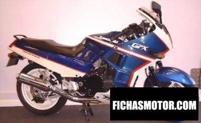 Ficha técnica Kawasaki gpx 750 r 1990